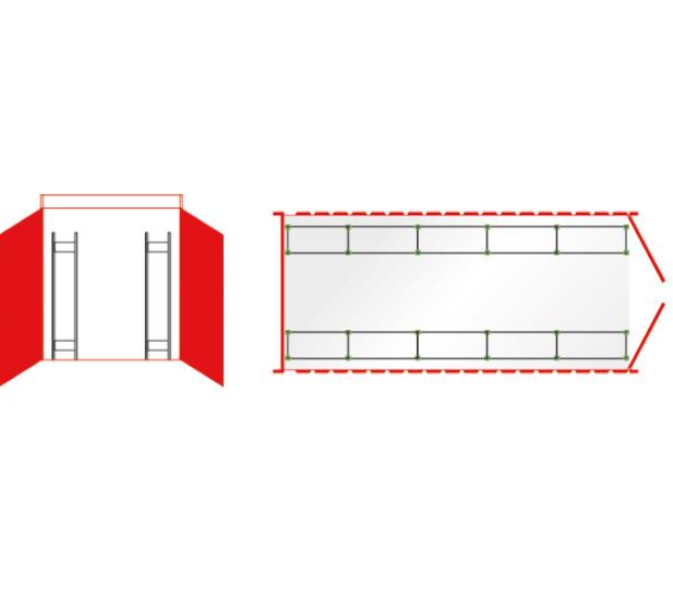 Reifenregal Containerset