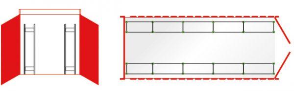 Reifenregale Container-Regalset