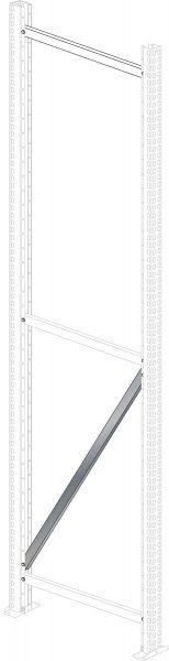 Diagonalstrebe für Einzelprofil für Weitspannregal PROFI 3000