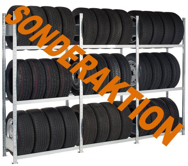 Reifenregal SONDERAKTION Fachbreite 1.300 mm